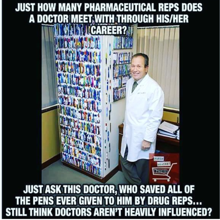 Doctors: Pockets Full of Pens; #BigPharma: Pockets Full of Doctors